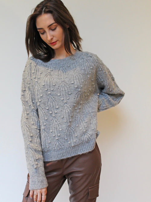 Sprig Knit Jumper Marl Grey