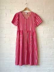 Stripe Pocket Dress Pink