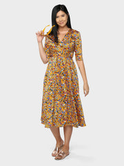 Jellybean Wrap Dress