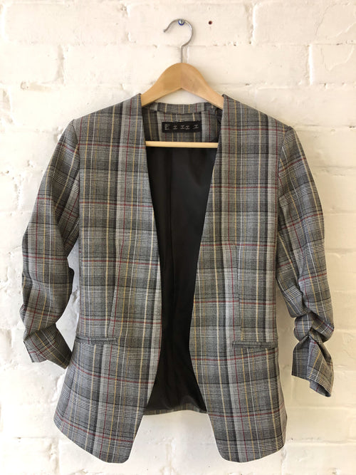 Fitted Checked Blazer