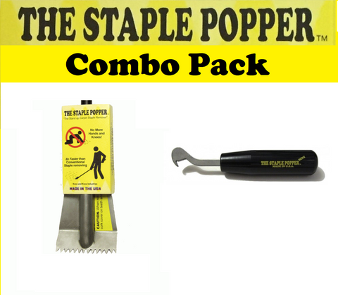 Staple Popper and Mini Carpet Staple Removing Tools Combo Pack
