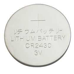 Industrial Grade 5HXG8 Battery, Coin Cell, Size 2430, 3V