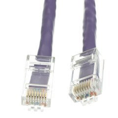 VoojoStore Cat6 Purple Ethernet Patch Cable, Bootless, 25 foot