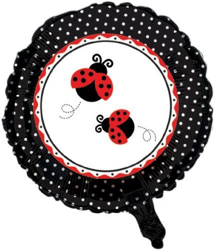 Creative Converting Ladybug Fancy Two Sided Mylar Foil Round Balloon by Creative Converting-Toys