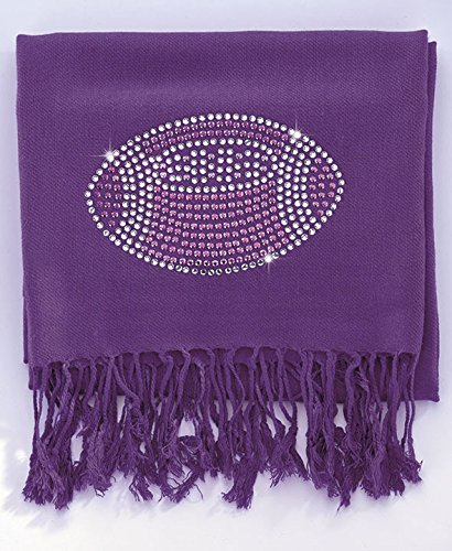 Football Bling Pashmina Scarf (Purple)