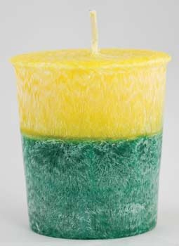 Patchouli Amber Palm votive(yellow) *