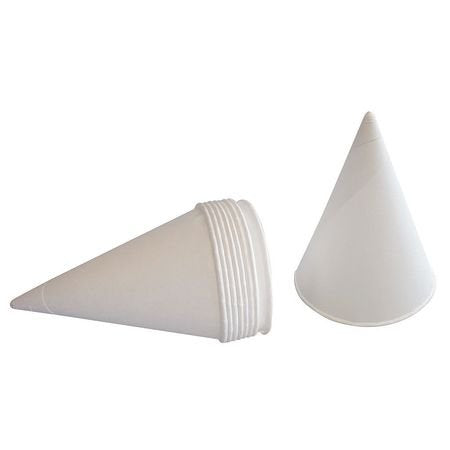 Disposable Cone Cup, 4.25 oz., White, PK200
