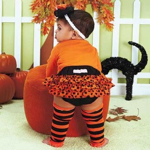 Ruffly Rumps Holiday Bloomers & Legwarmers Halloween 18-24 mos.