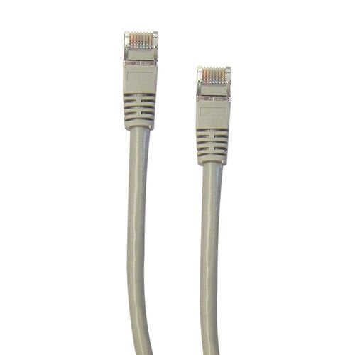CableWholesale Cat5E 350MHz 1-Feet STP Shielded Cable with Molded Boot, Gray (10X6-52101)