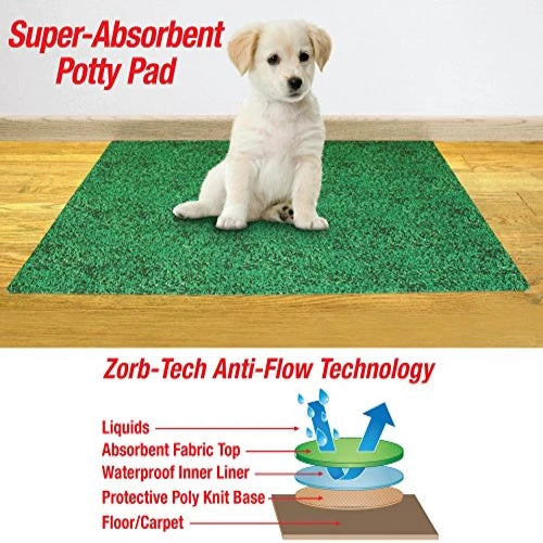 "Collections Etc-leak Resistant Potty Pad for Dogs-20""*28""-green"