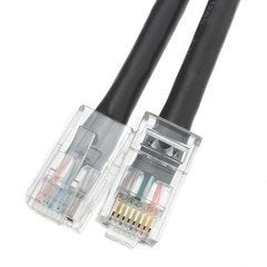VoojoStore Cat6 Black Ethernet Patch Cable, Bootless, 1 foot