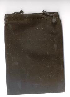 Bag Velveteen: 5 x 7 Black *