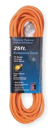 Power First 25 ft. Extension Cord 16/3