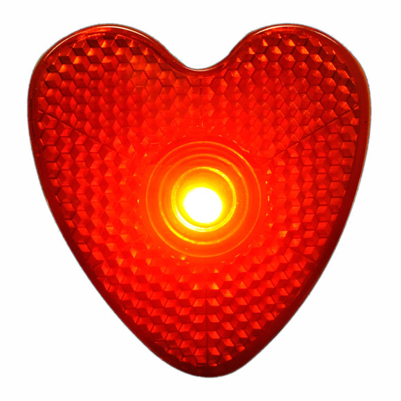 LED Blinking Red Heart Reflector Clip