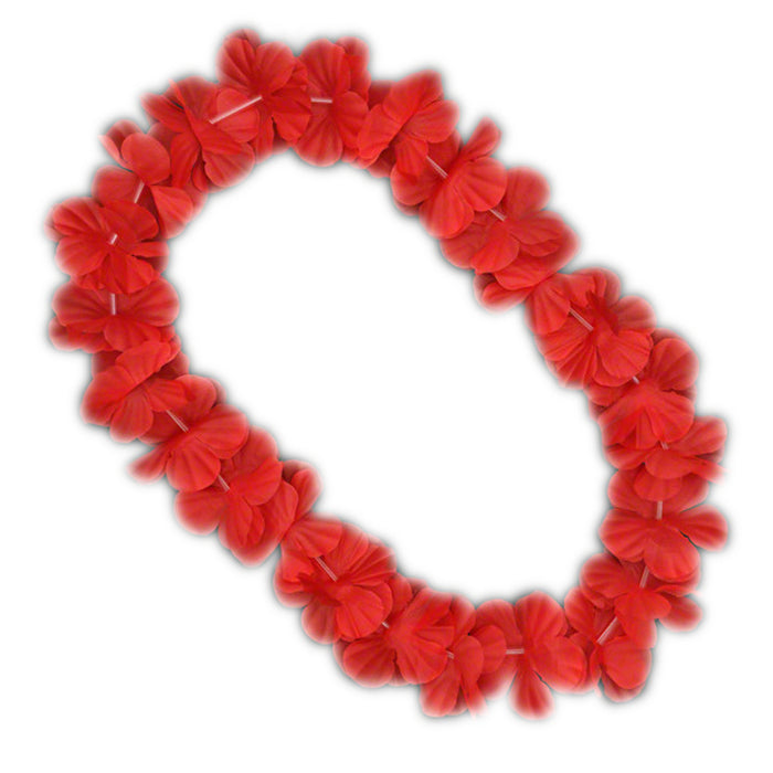 Hawaiian Flower Lei Necklace Red