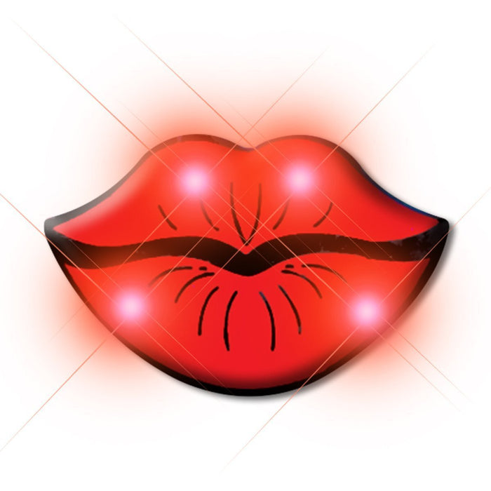 Lips Flashing Body Light Lapel Pins