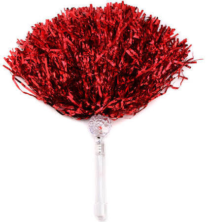 Light Up Pom Pom Red