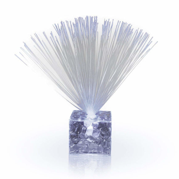 Fiber Optic Centerpiece With Small Clear White Base