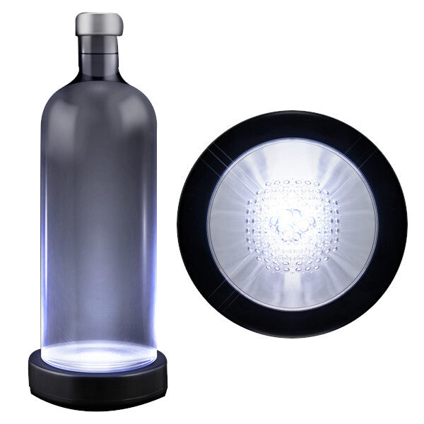 White LED Switch Activated Bottle Base Light Display Drink Coaster
