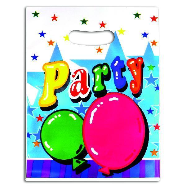 PLASTIC PARTY GOODY BAGS (8 CT)