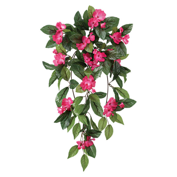 Impatiens Hanging Stem by OakRidge Outdoor - Dark Pink