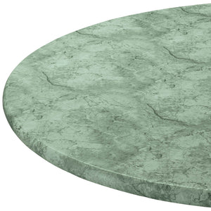 "Marbled Elasticized Table Cover-Green-40"" - 44"" dia. Round"