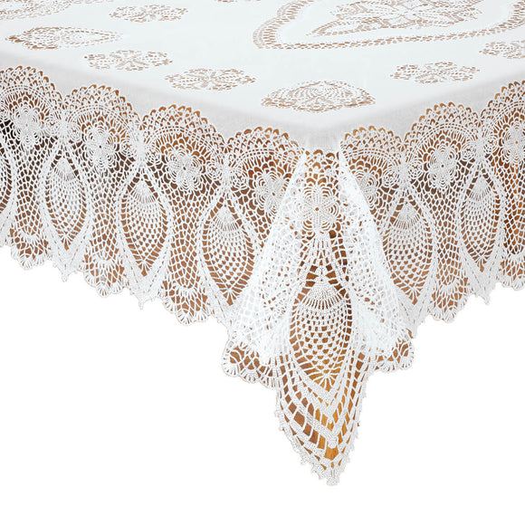 Vinyl Lace Tablecloth-60