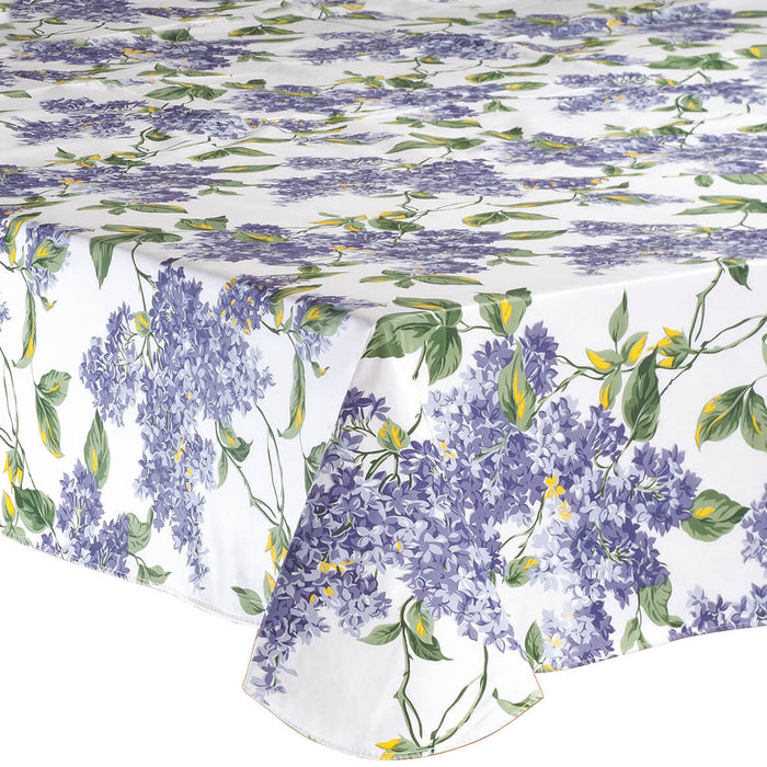 "Fresh Lilac Premium Vinyl Table cover-70"" Round"