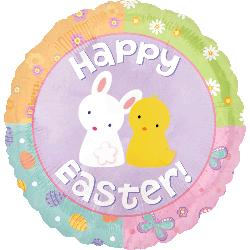 "18"" Happy Easter Cutest Bunny and Chick"