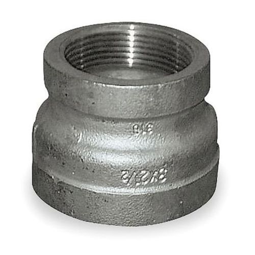 "3/8"" x 1/4"" FNPT 304 SS Reducing Coupling"