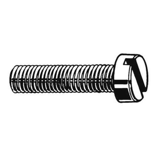 "#10-24 x 1/2"" Pan Head Slotted Machine Screw, 100 pk."