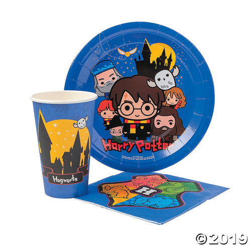 Harry Potter™ Chibi Cartoon Party Tableware Pack for 20 Guests