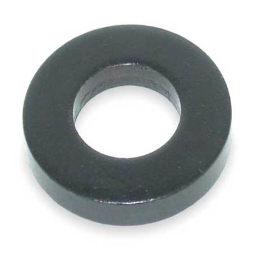 "1/4"" x 5/8"" OD Black Oxide Finish Grade 5 Steel Flat Washer"