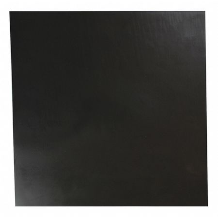 "1/32"" Comm. Grade Buna-N Rubber Sheet, 12""x12"", Black, 70A"
