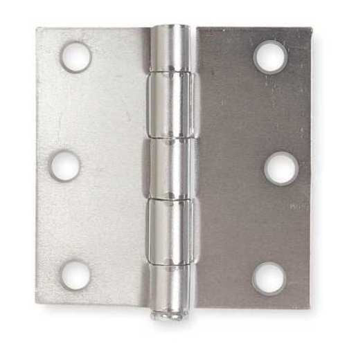 "3""W x 3""H Zinc Plated Door and Butt Hinge"