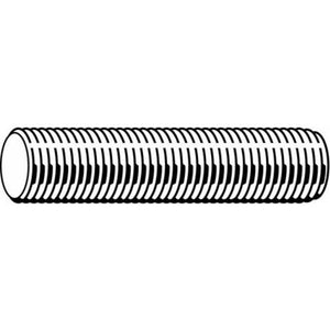 "1/4""-20 x 3' Zinc Plated Low Carbon Steel Threaded Rod"