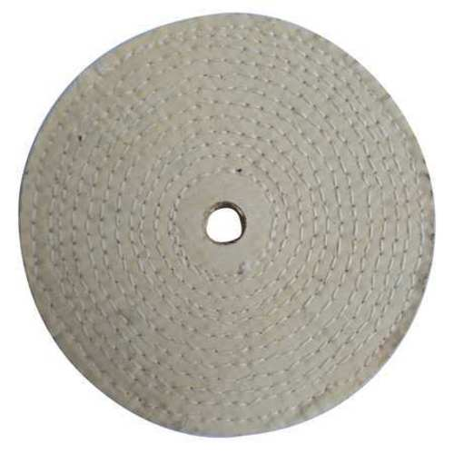Buffing Wheel, Spiral Sewn, 10 In Dia