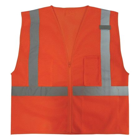 2XL Class 2 High Visibility Vest, Orange
