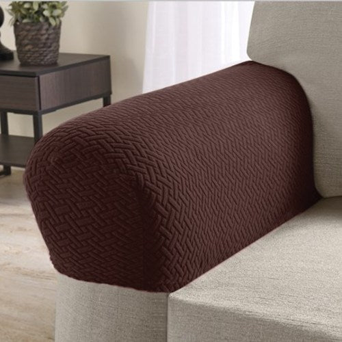 Armrest Covers for Recliners, Sofas, Chairs - Set of 2-Chocolate