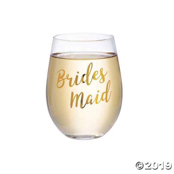 Lillian Rose™ Gold Bridesmaid Stemless Wine Glass
