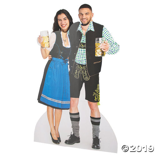 Oktoberfest Couple Photo Cardboard Stand-Up