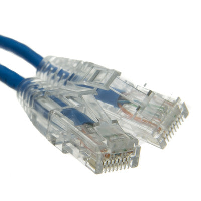 3ft Blue Cat6a Slim Ethernet Patch Cable, Snagless