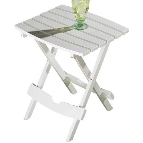 Outdoor Folding Side Table-WHITE