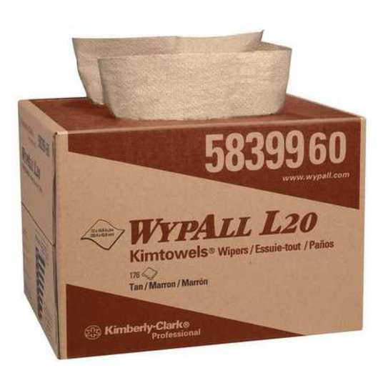 2-Ply Paper Brag Box Wipers Natural 12-1/2