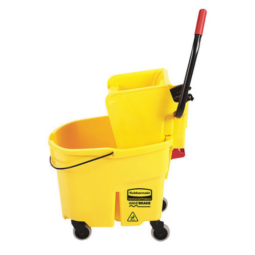 WaveBrake Mop Bucket and Wringer, 35 qt., Yellow