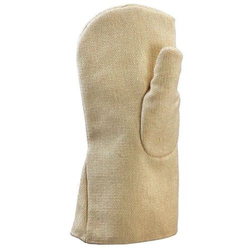 Heat Resist Mitten, Tan, M, Thermonol, PR