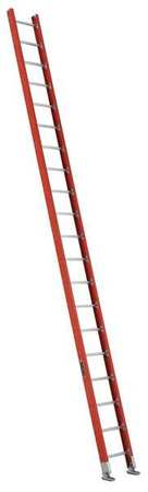 Straight Ladder, Plate Connect, 20 ft., Fiberglass`