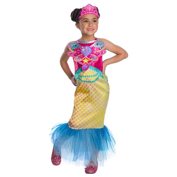 BARBIE MERMAID CHILD COSTUME-Extra Small