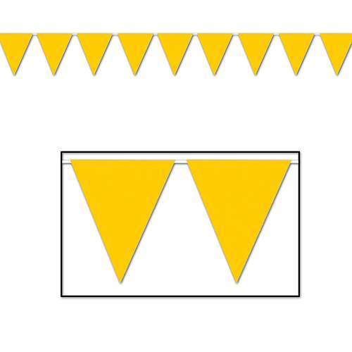 BRIGHT GOLD SOLID COLOR PENNANT BANNER