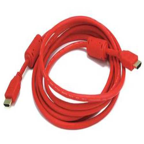 HDMI Cable, High Speed, Red, 10ft., 28AWG